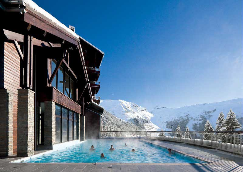 Flaine Montsoleil d'Eos outdoor swimming pool
