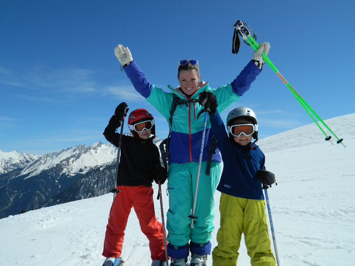 Half term ski holiday with kids