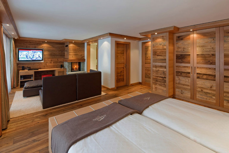 Junior Suite at Chalet Hotel Schonegg