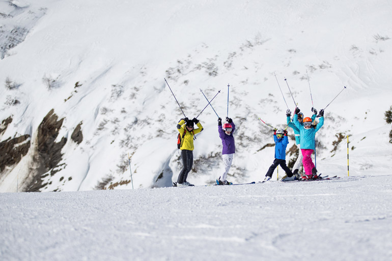 Kids having fun in Chamonix