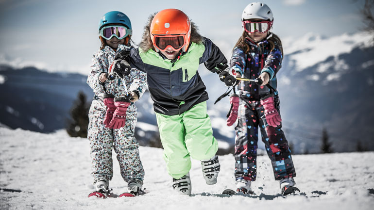 Kids on the piste in Les Arcs