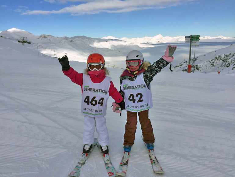 Kids skiing with New Generation in Val Thorens