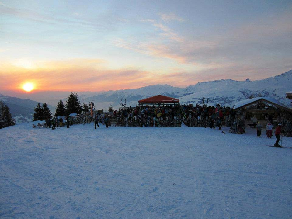 Les Arcs sunset L'Arpette Terrace