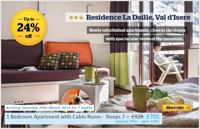 Residence La Daille 24% off promotion banner