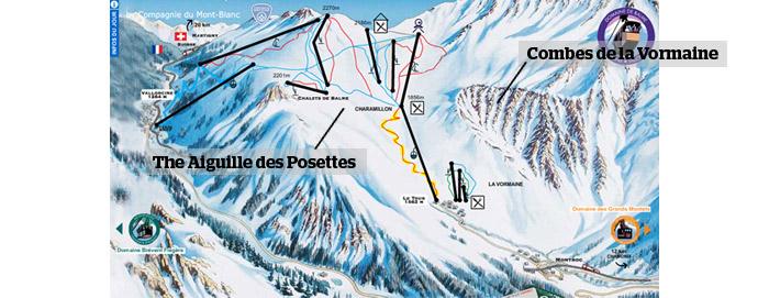 Top 10 OffPiste Ski Routes in Chamonix PowderBeds