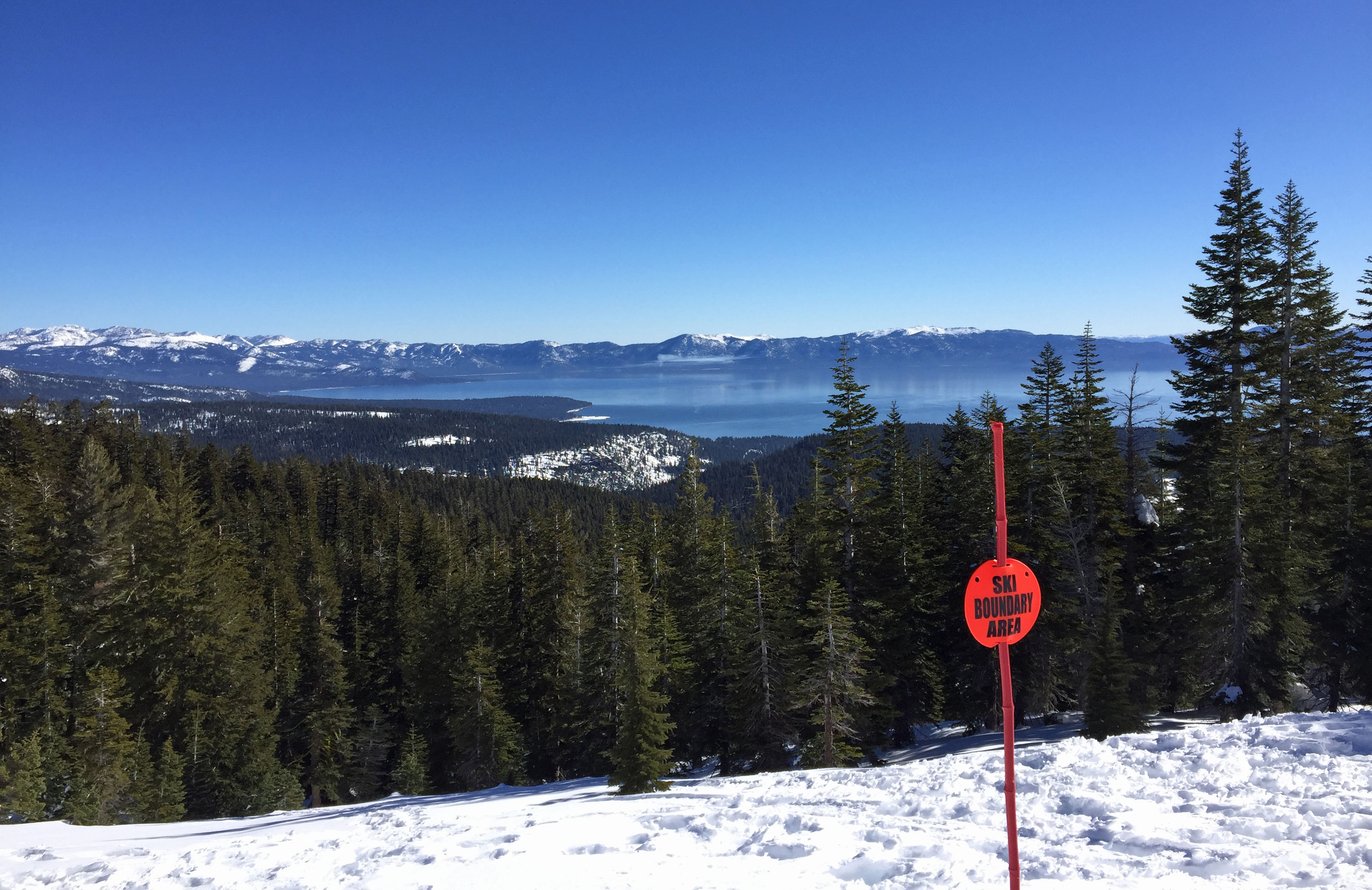 The view from Lake View chairlift, Alpine Meadows