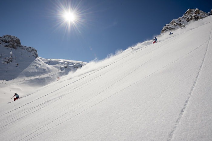Late season skiing in Tignes
