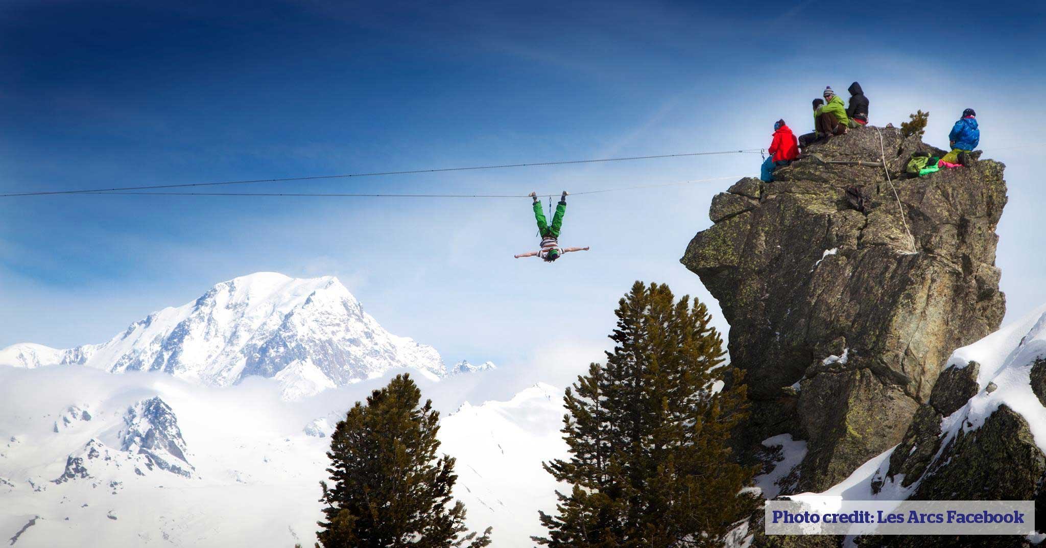Highwire in Les Arcs