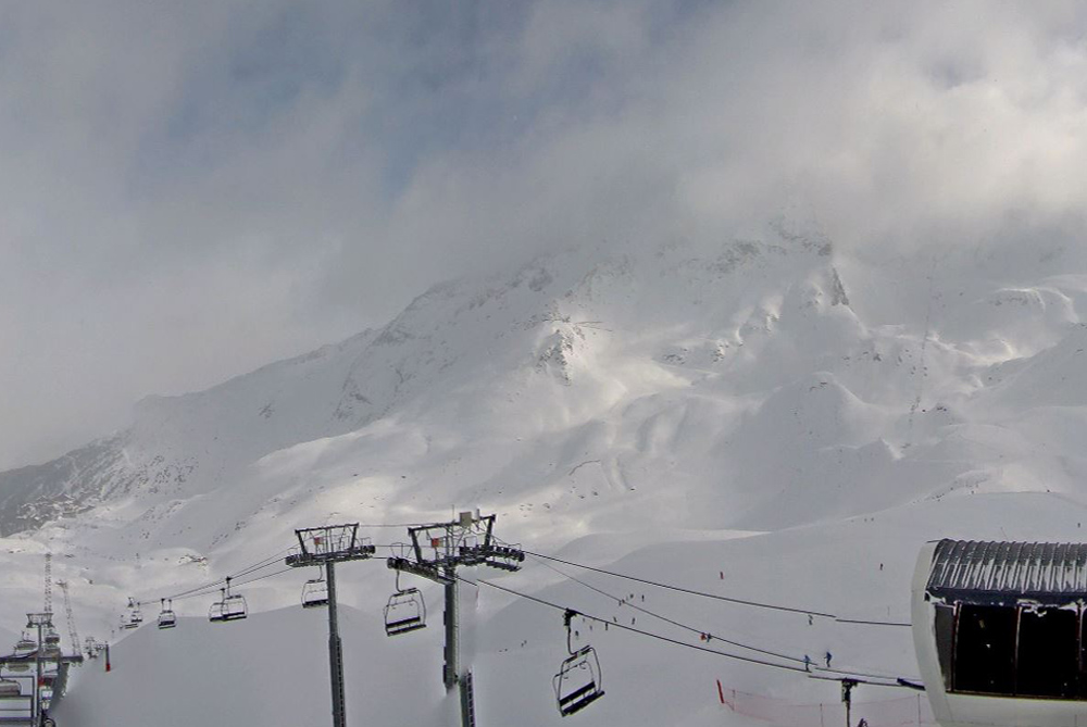 Fresh snow in Les Arcs