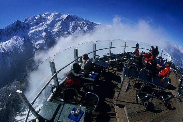 Lunch terrace Chamonix