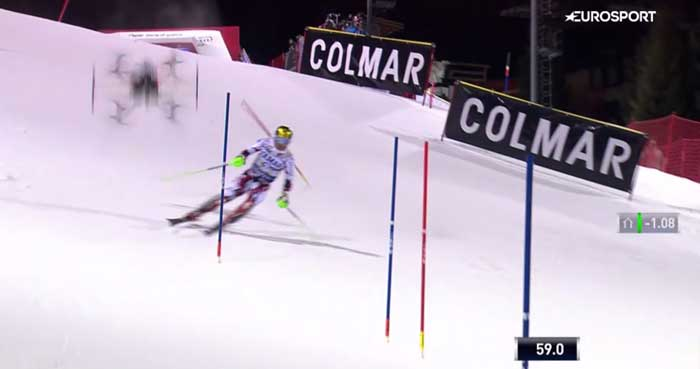 Drone crash, Marcel Hirscher