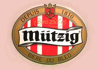 Mutzig beer in Morzine