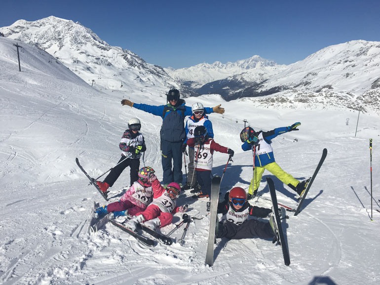 New Generation ski lesson