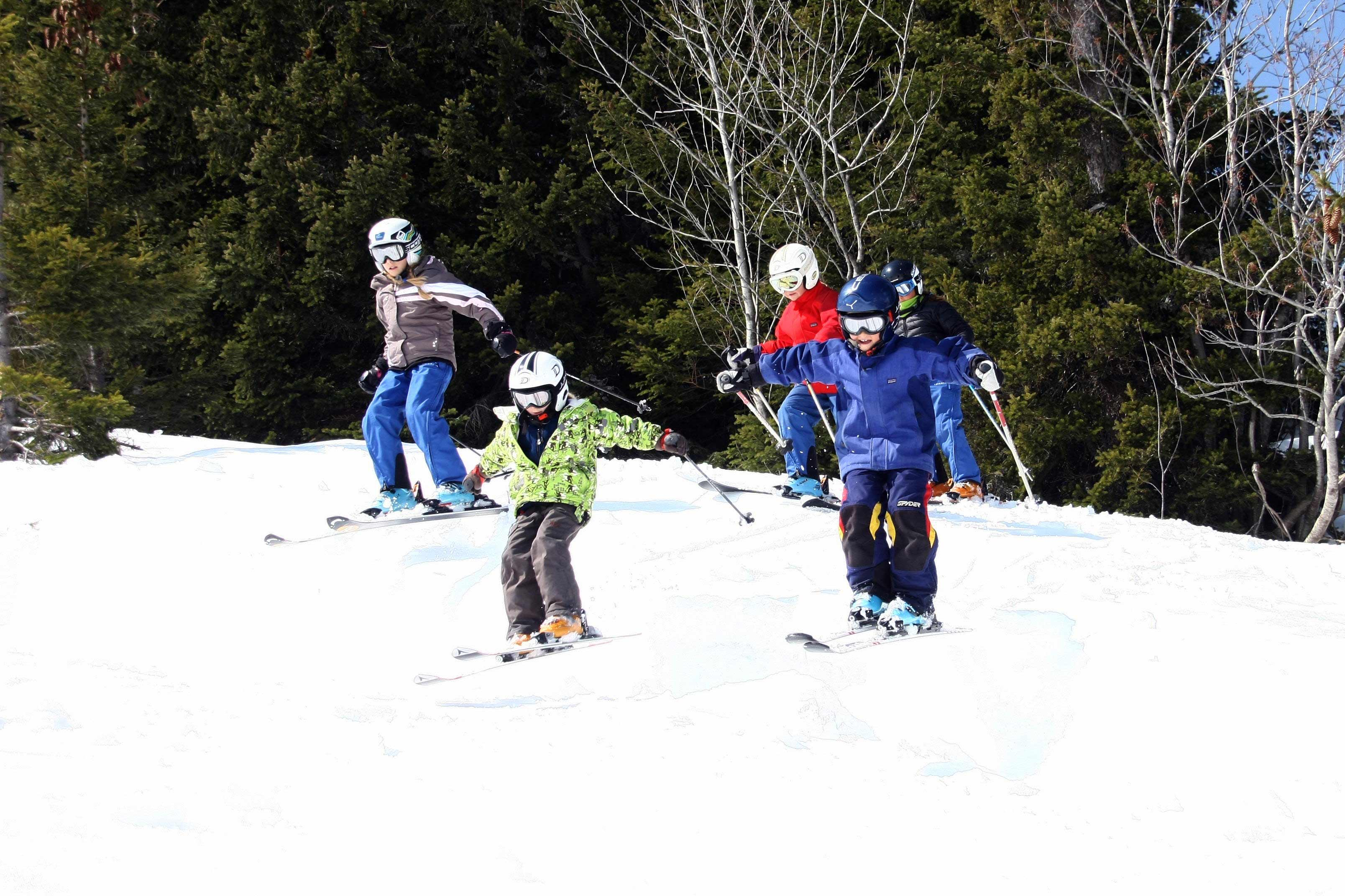 Kids Skiing Flaine