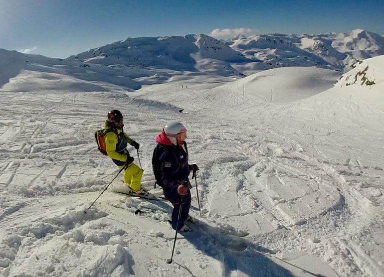Off-piste skiing in Val Thorens