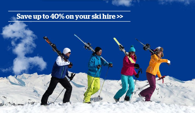 SKISET save up to 40% promotional banner