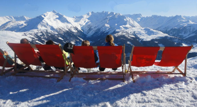 Picnic on the slopes in France