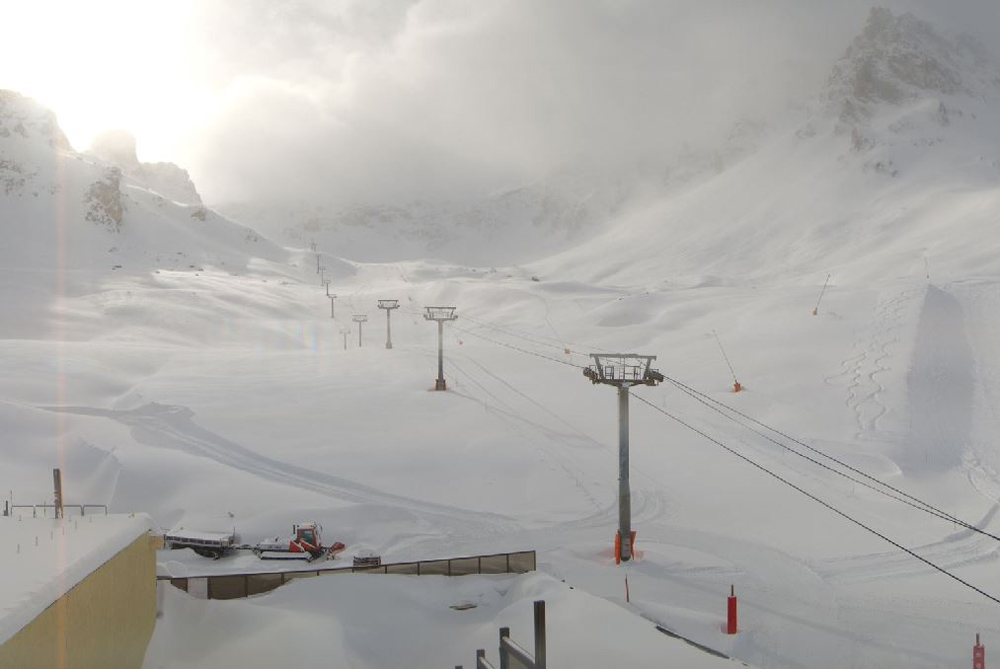 Fresh snow in Tignes Val Claret