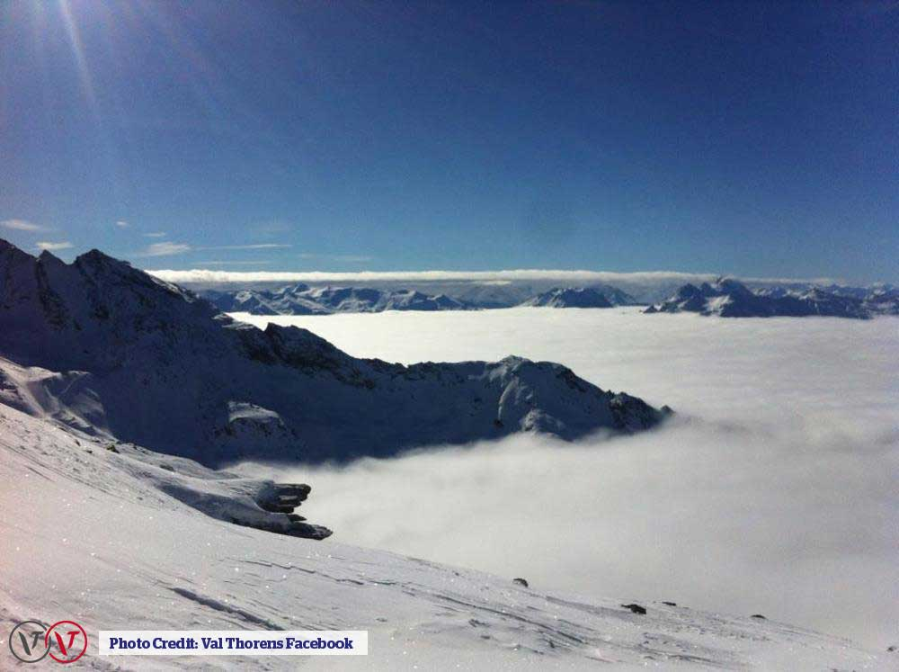 Val Thorens above the clouds