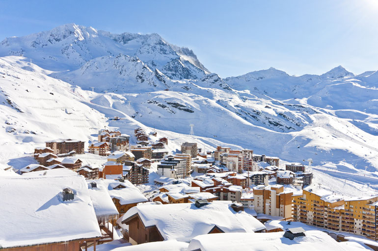 View over Val Thorens