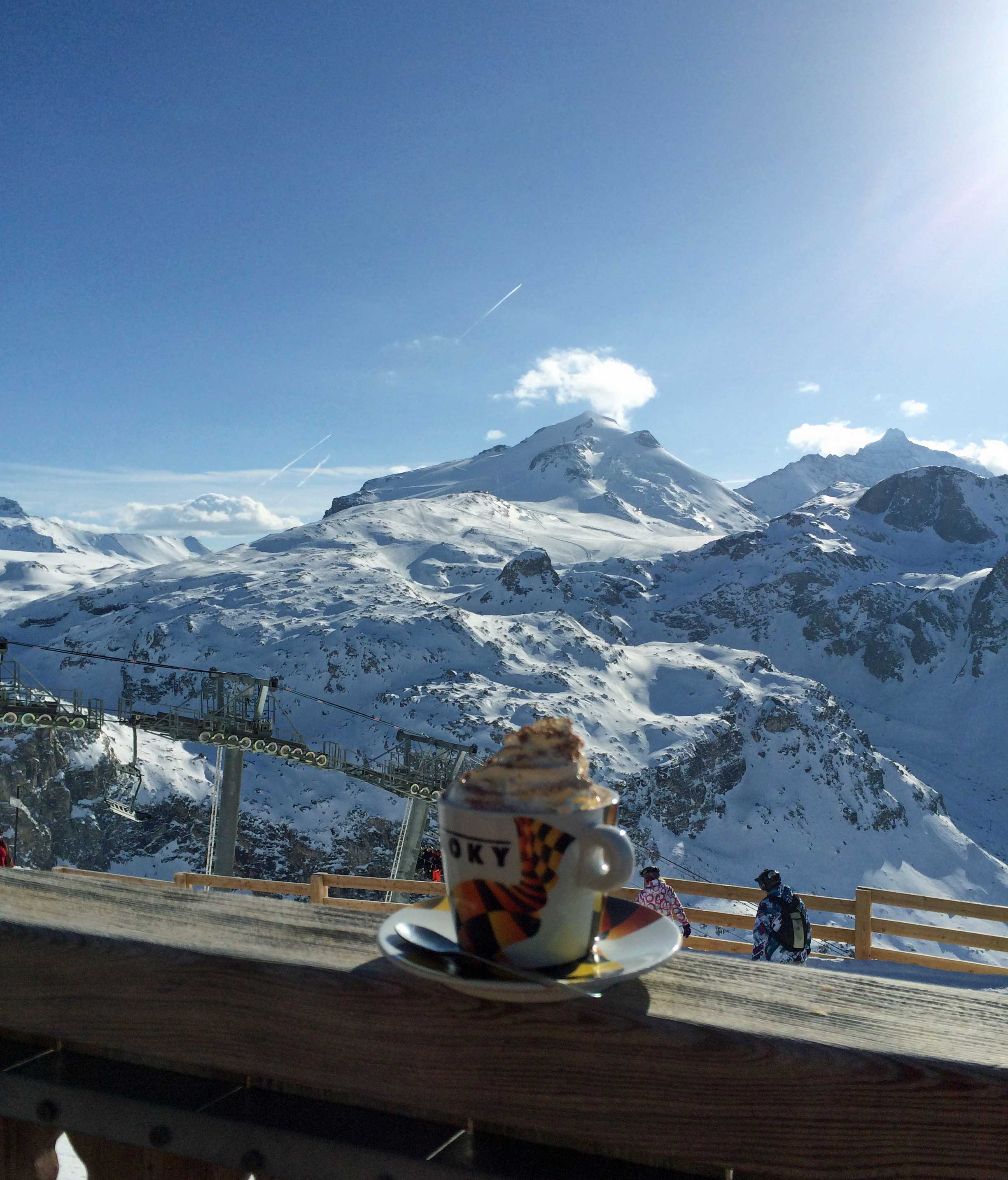 Amazing hot chocolate with an amazing view