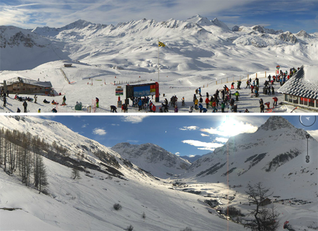Snowfall in Val d'Isere