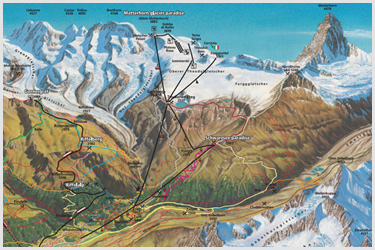 Zermatt Summer Piste Map
