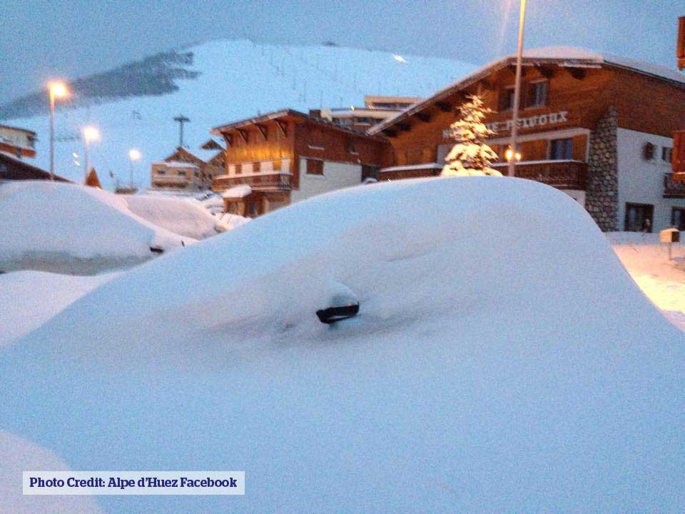 Alpe d Huez buried car