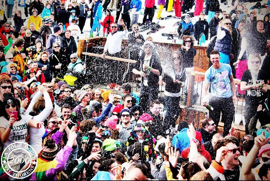 La Folie Douce crowd