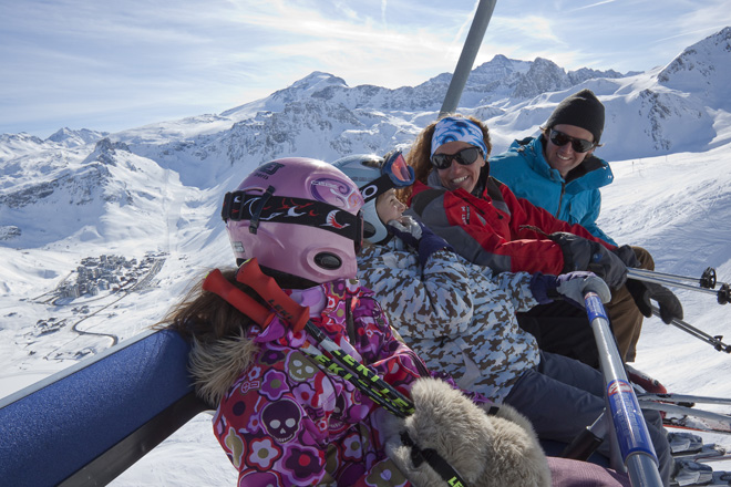 Family on Chairlift