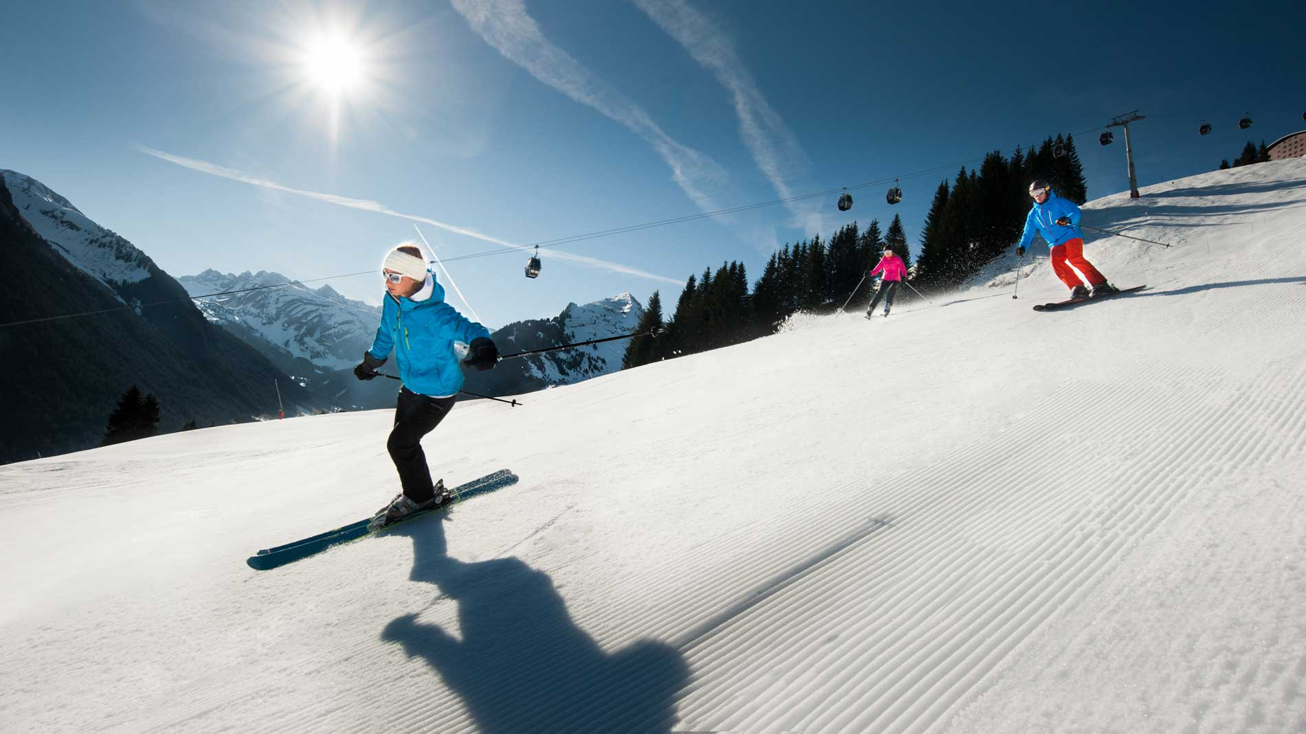 Intermediate skiing in Morzine