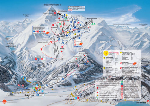 Kitzsteinhorn Kaprun Trail Map