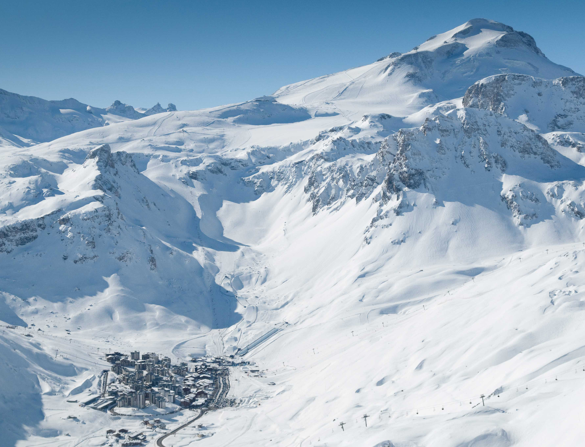 Tignes from above