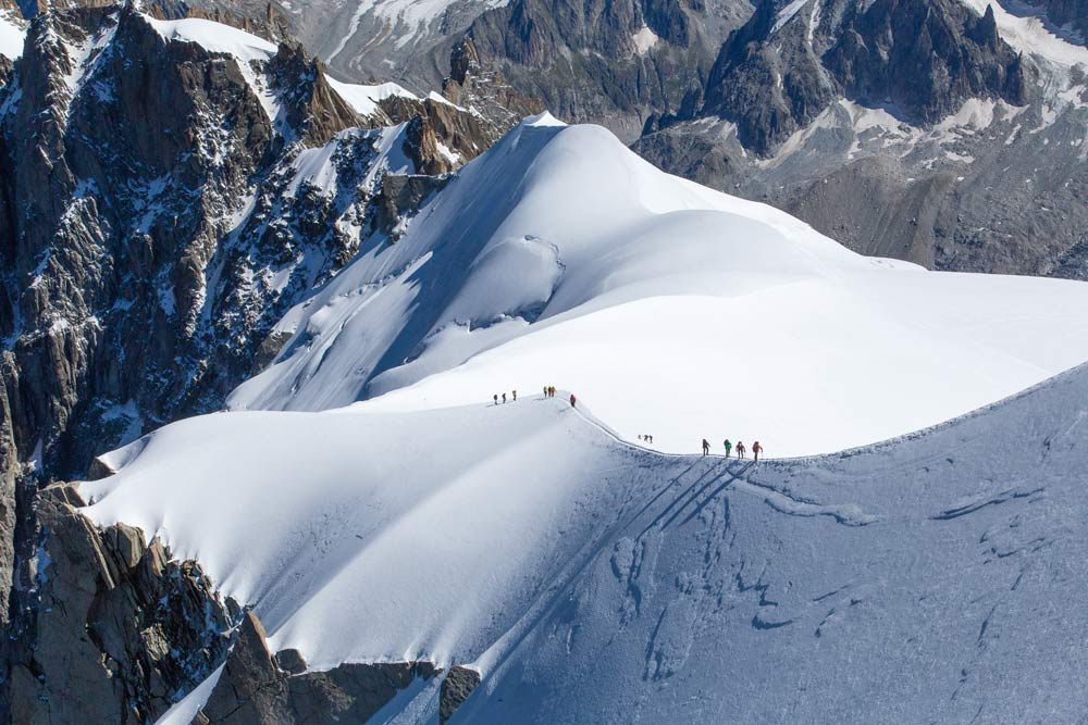 Ski off-piste in Chamonix