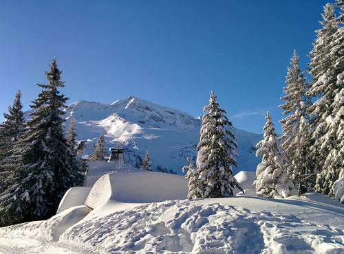 Fresh snow in Avoriaz