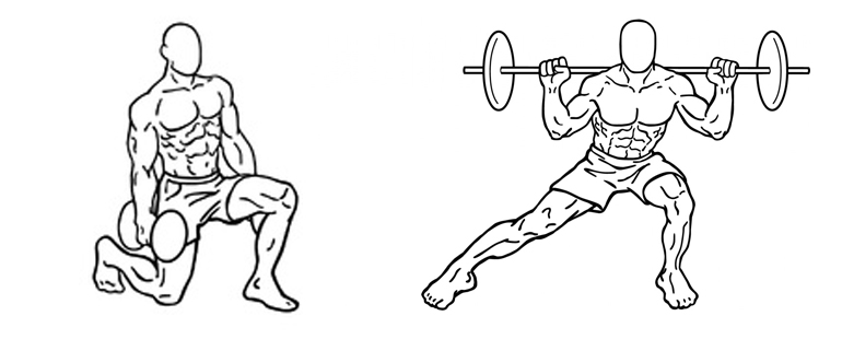 Squats and lunges- Exercises for ski fitness